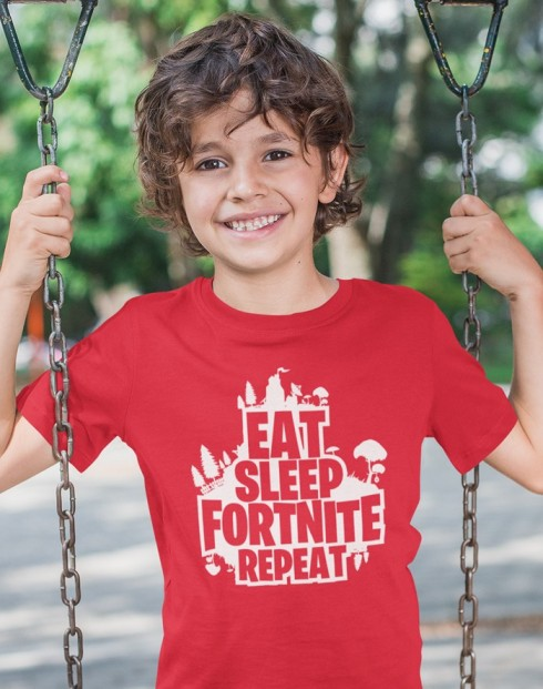 Detské tričko Eat Sleep Fortnite Repeat