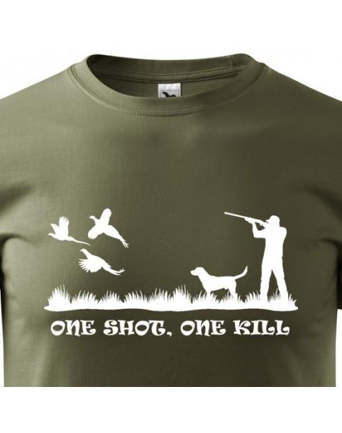 Tričko pro myslivce One shot one kill